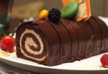 rolada od kestena s cokoladom